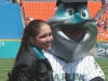 Krystal with Billy the Marlin